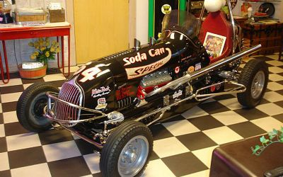 1947 Floyd Trevis Full Midget Race Car Ford Flattie